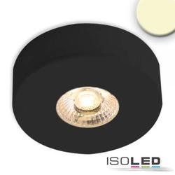 LED Ein- und Aufbauleuchte MiniAMP schwarz 3W 24V DC warmweiß dimmbar 50mm Einbauöffnung