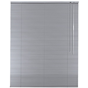 Alu Jalousie Aluminium Jalousette in Farbe Silber - Breite 40 bis 240 cm - Höhe 130/175 / 220 cm - Tür Fenster Rollo Jalousette Aluminium Fensterjalousie Lamellen Metall (40 x 220 cm)