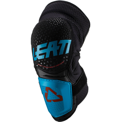 Leatt 3DF Hybrid Motocross Knieprotektoren, blau, Größe 2XL