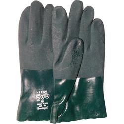 Chemikalien-Schutzhandschuhe aus PVC. Größe 10