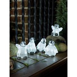 Konstsmide 6266-203 Acryl-Figur Baby-Pinguin 5er Set LED