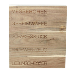 räder PET Messerblock 5 Messer Messerchen, Geheimwaffe Akazienholz