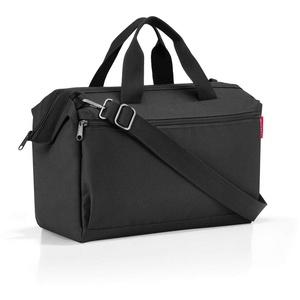 Reisenthel Allrounder S Pocket MO7003 in Schwarz – Reisetasche mit 11l Volumen – für Alltag Reisen und Büro – B 39 x H 26 x T 16,5 cm