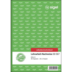 Sigel Lohnabrechnung Formular SD067 DIN A5