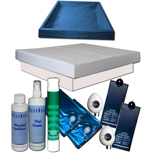 Wasserbett Komplett - Dual Softside Carbon Heater Classic Starter Set Podest