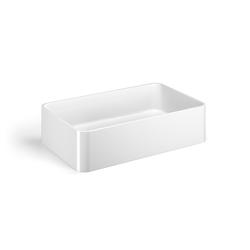 Lineabeta Aufsatzwaschbecken 58,5cm weiß, 53703.09