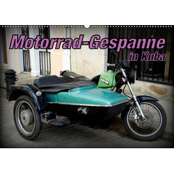 Motorrad-Gespanne in Kuba (Wandkalender 2021 DIN A2 quer)