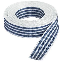 """buttinette Taschengurtband """"Streifen"""", weiß-marine, Breite: 2,5 cm, Länge: 3 m"""