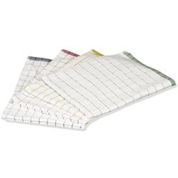 Floorstar Microfaser-Geschirrtuch -Pot&Pan-, 40 x 60 cm, ca. 120 g, Farbe:  rot-weiß