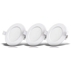 B.K.Licht LED Einbaustrahler, LED Einbauspots Bad Strahler Einbauleuchten weiß dimmbar Deckenspots IP44