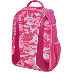 Herlitz Schulrucksack airgo, Camouflage Pink