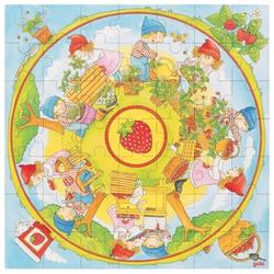 Goki 57442 - Wir pflanzen Erdbeeren XXL-Puzzle 49 Teile