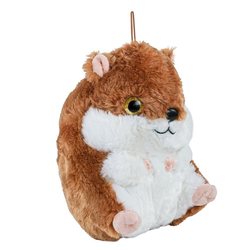 Teddys Rothenburg Kuscheltier Hamster braun-weiß 25 cm (Stoffhamster Plüschhamster, Stofftiere Kinder Plüschtiere Spielzeug Babys)