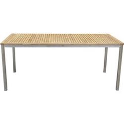 Teak Garten Tisch 180cm Gartentisch Holztisch Holz Edelstahl massiv Terrasse