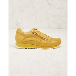 Deerberg Damen Leder-Sneaker Wiba gelb