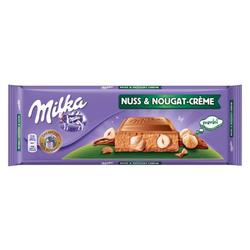 Mondelēz Milka Milka Nuss-Nougat-Creme, Tafelschokolade, 300g, 4er Pack (4x 300 g)