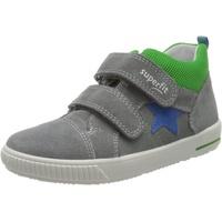 Superfit Baby Jungen MOPPY Sneaker, Grau (Hellgrau/Blau 25), 19