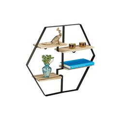 relaxdays Wandregal Hexagon Regal für die Wand