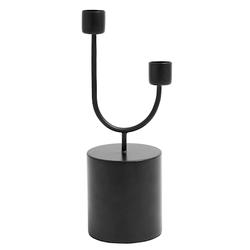 Nordal Kerzenständer Eisen 2 Kerzen 23 cm Schwarz