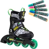 K2 Raider Splash black/green/splash 35-40