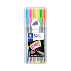 STAEDTLER Fineliner Fineliner triplus My Colours Neon, 6 Farben