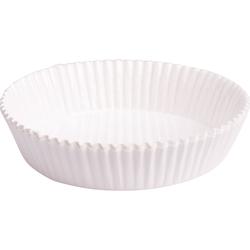 100x Tarte-Backform Quiche Obstkuchen Weiß fettdicht backfest 75x20 mm
