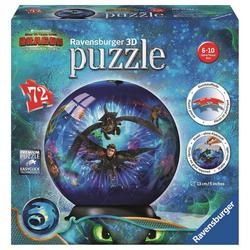 Ravensburger 3D-Puzzle 11144 Dragons 3 72 Teile 3D Puzzleball, 72 Puzzleteile