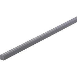PVC Vierkant Profil (L x B x H) 500 x 10 x 10mm 1St.