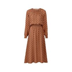 Gepunktetes Midi-Kleid