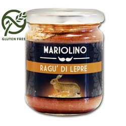 Wildhasenragout, Sauce mit Wildhasenfleisch und Tomaten, 212 ml - Mariolino