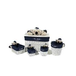 Korb-Set Koala 200 Blau / Weiß