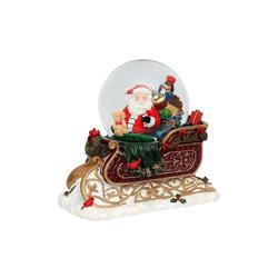 SIGRO Schneekugel Schneekugel XXL Schlitten mit Santa