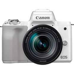 Canon EOS-M50 EF-M18-150 Kit Systemkamera (EF-M 18-150mm f/3.5-6.3 IS STM, 24,1 MP, NFC, WLAN (Wi-Fi), Bluetooth) weiß