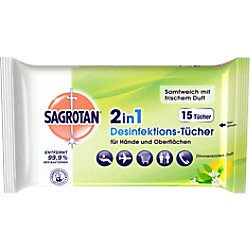 Sagrotan Zitronenblüten-Reinigungstücher 15 Stück