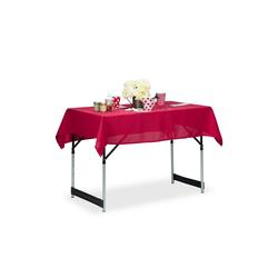 relaxdays Tischdecke Tischdecke wasserabweisend in 3 Farben rot 110 cm x 140 cm x 1 mm