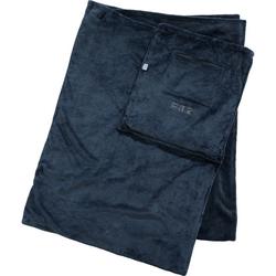 Reise-Decke mit integrierter Tasche, grau - grau