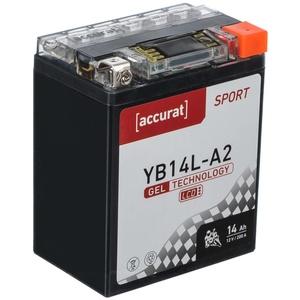 Accurat Sport GEL LCD YB14L-A2 Motorradbatterie 14Ah 12V (DIN 51411) YG14L-A2 GEL12-14L-A2