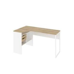 ebuy24 Schreibtisch Plus Eckschreibtisch mit 3 Ablagen und 2 Schublade