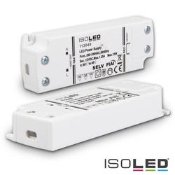 ISOLED LED Trafo 12V/DC, 0-15W, ultraflach, SELV ISO-113049