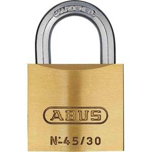 ABUS Messing-Vorhangschloss 45/30 Triples Set-3-Stück gleichschließend, 11822