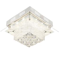 LED Decken Leuchte Esszimmer Strahler Glas Kristall Chrom Lampe 1-flg EEK A Globo 49366-12