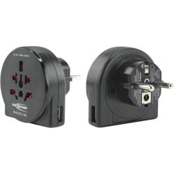 Ansmann Reiseadapter World to EU + USB