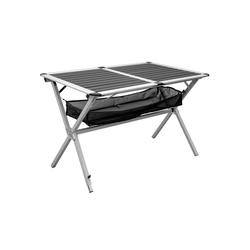 AMANKA Campingtisch Campingtisch Alu Rolltisch mit Ablagenetz 111x71,5, 110 x 71 x 71 cm Anthrazit
