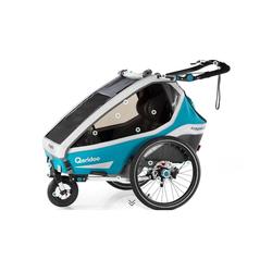 Qeridoo Fahrradkinderanhänger Qeridoo Kidgoo2 Sport 2020 blau