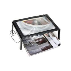 kueatily Lupenlampe Lupe mit LED-Licht 5X Leselupe LED-Lesehilfe Lupe A4 Tischlupe Licht Faltbare Desktop-Leuchtlupe Freihändige Leuchtlupe zum Lesen, Nähen, Basteln, Hobby