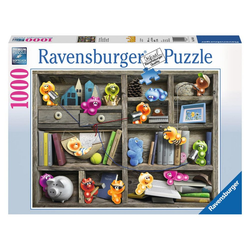 Ravensburger Puzzle Gelini Im Bücherregal, 1000 Puzzleteile