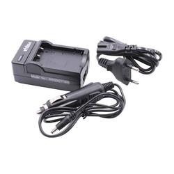 vhbw Ladegerät Netzteil mit Kfz-Lader passend für Silvercrest HD-Camcorder SCAZ 5.00 A1 (LIDL IAN 67099) Silvercrest SCAZ 5.00 B2 (LIDL IAN: 75981)