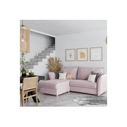 PLACE TO BE. Schlafsofa, Schlafsofa Insideout 85 mit Recamiere links rosa