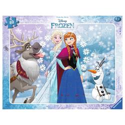 Ravensburger Rahmenpuzzle Anna und Elsa - Rahmenpuzzle, 40 Puzzleteile bunt