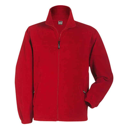 Kinder Fleecejacke | James & Nicholson rot XL